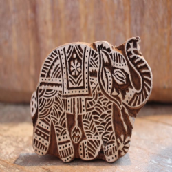 Hand Carved Elephant Block Print